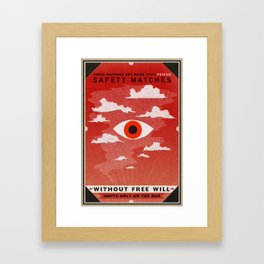 Safety Matches: Psyche Framed Art Print