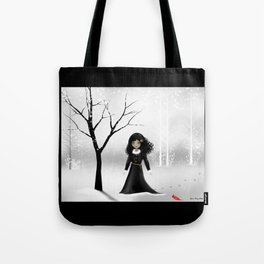 Dark Goth Girl Art - January Tote Bag