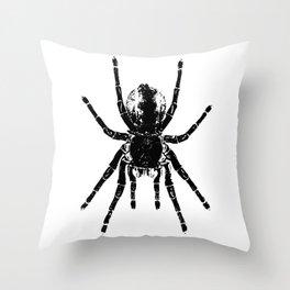 Scary Tarantula Spider Halloween Black Arachnid Graphic Throw Pillow