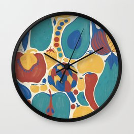 fruits and vegetables strict Wall Clock