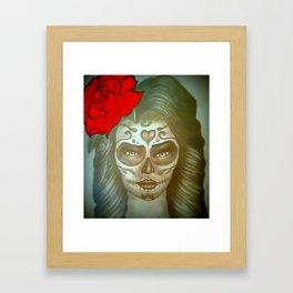 Skull Girl Framed Art Print