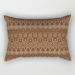 Mudcloth Style 1 in Brown Rectangular Pillow