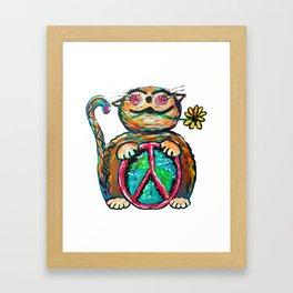 Peace Chubbycat Framed Art Print