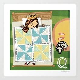 """""""Q"""" Art Print"""
