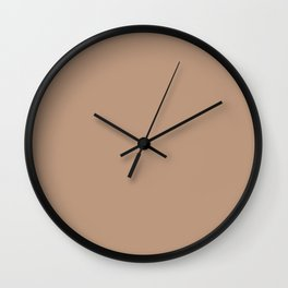 Pale Taupe - solid color Wall Clock