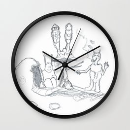 Not Like Other Trolls, Not Like Other Mushrooms Wall Clock