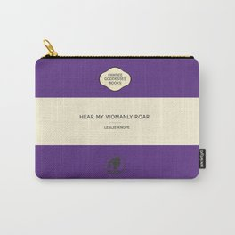 Hear my womanly roar- the book Carry-All Pouch