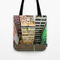 hong kong Tote Bags featuring Hong Kong by Gal Raz