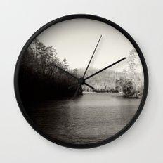 Black & White Lake Wall Clock