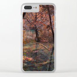 Autumn reflections Clear iPhone Case