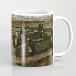 """Vincent van Gogh - Women mending nets in the Dunes (1882) also known as """"Landscape with Net Menders"""" Coffee Mug"""