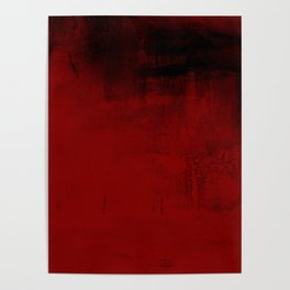 Abstract art in deep red Poster