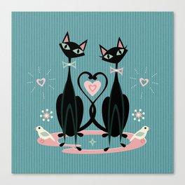 Vintage Kitty Love ©studioxtine Canvas Print