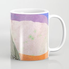 Mockingbird on a Wire Fence In The Sunset Watercolor Art Coffee Mug