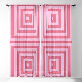 Vanishing Point 1 - Cherry Musk Sheer Curtain