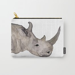 Watercolor Rhino Carry-All Pouch