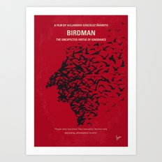 No604 My Birdman minimal movie poster Art Print