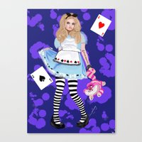 alice in wonderland Canvas Prints featuring wonderland by Majikal Whispers
