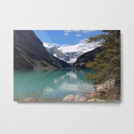 Sunny Lake Louise Metal Print