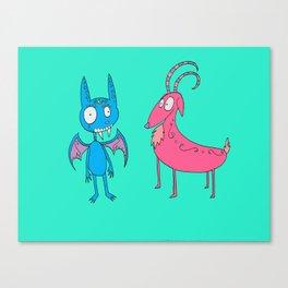 El Chupacabra y Isabella the Goat Canvas Print