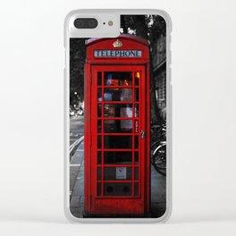 Telephone cabin Clear iPhone Case