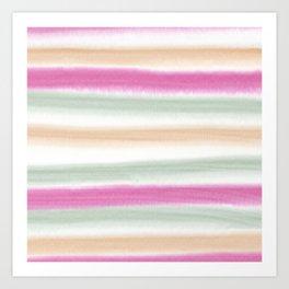 Watercolor Stripe Art Print