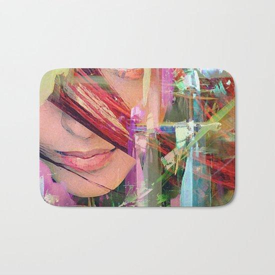 Abstract girl Bath Mat