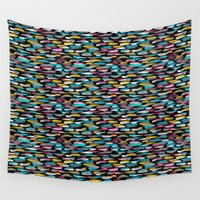 stripes Wall Tapestries featuring Stripes by Meryl Pardoen