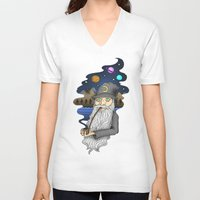 wiz khalifa V-neck T-shirts featuring The Wiz by Cody Weiler