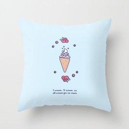 Ice Cream (Cone) Throw Pillow