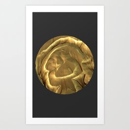 Meditations - Gold Plains Art Print