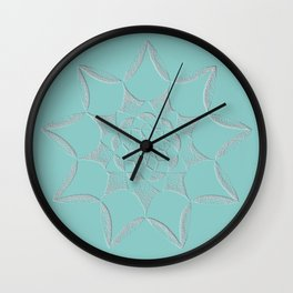 Dot Mandala Light Green - 3D Pointilism Wall Clock