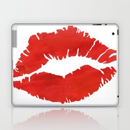 fire engine red lips Laptop & iPad Skin