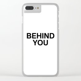 YOU 002 Clear iPhone Case