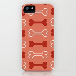 Bone surface pattern (red) iPhone Case