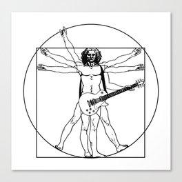 Vitruvian man playing Les Paul guitar Canvas Print