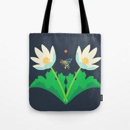 Honey Bee + Bloodroot Tote Bag
