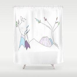 Minimalist Volcano Shower Curtain