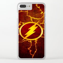Flash With Lightning Clear iPhone Case