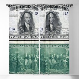1918 James Madison $5,000 Federal Reserve Bank Note Blackout Curtain
