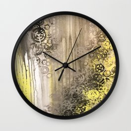 Gearing Towards Yellow Wall Clock