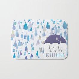 I Smile When It's Raining Bath Mat