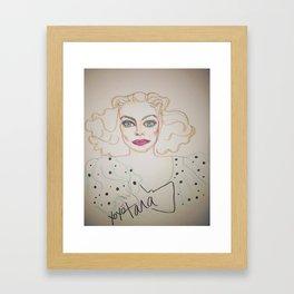 Joan in polka dots Framed Art Print