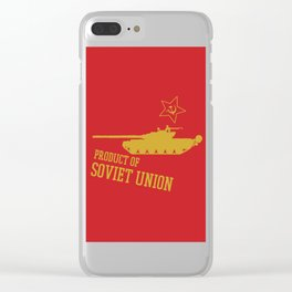 T-72 (Product of SOVIET UNION) Clear iPhone Case