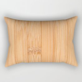 Cool elegant light brown bamboo wood print Rectangular Pillow
