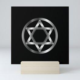 The seal of Solomon- a magical symbol or Hexagram Mini Art Print