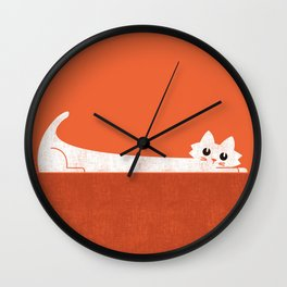 Mark's Superpower: cat Superstretch Wall Clock