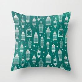 Marrakech Nights In green Throw Pillow