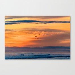 Sunrise - Omanu Beach 2 Canvas Print