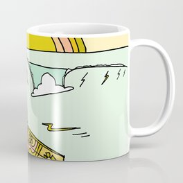 paddle on to new adventures // new year by surfy birdy Coffee Mug